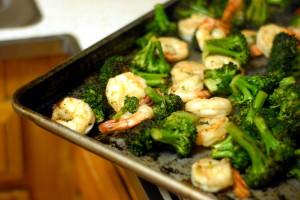 Grilled Broccoli Shrimp Salad